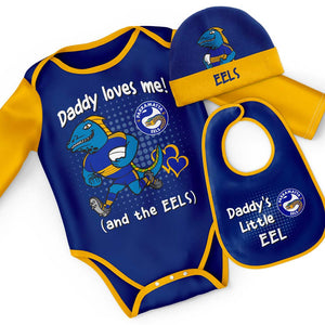 Load image into Gallery viewer, Parramatta Eels Bodysuit 3-Pack