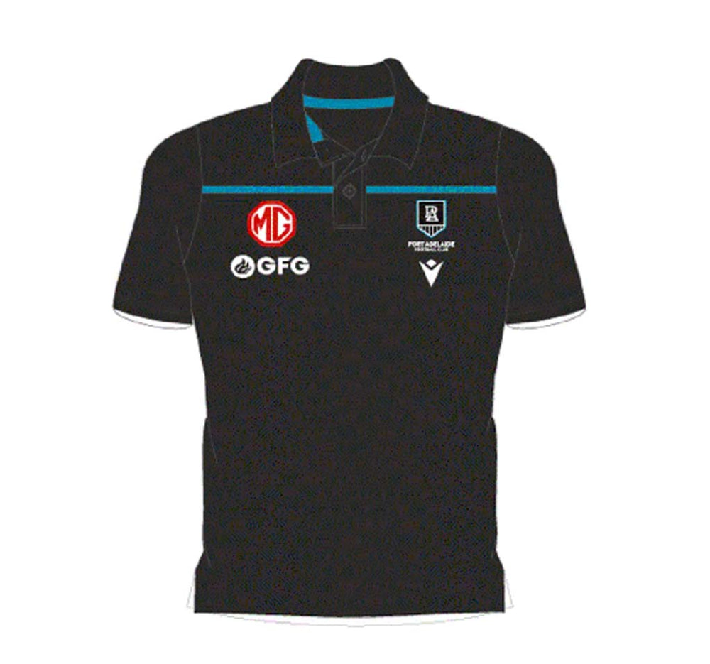 Port Adelaide Power 2021 Travel Polo - Black