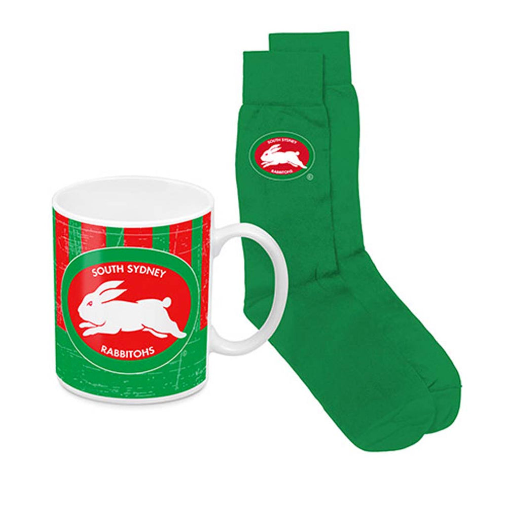 South Sydney Rabbitohs Heritage Mug and Socks Pack