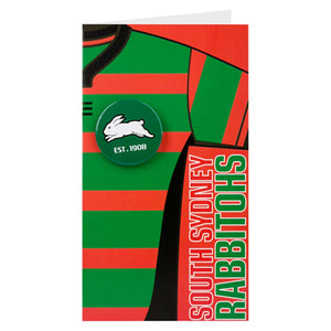 South Sydney Rabbitohs Badge Card