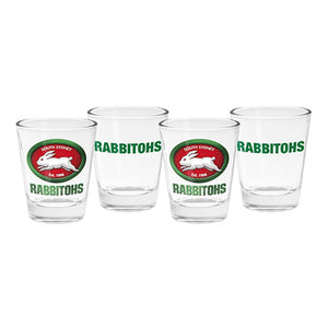 South Sydney Rabbitohs Set of 4 Shot Glasses