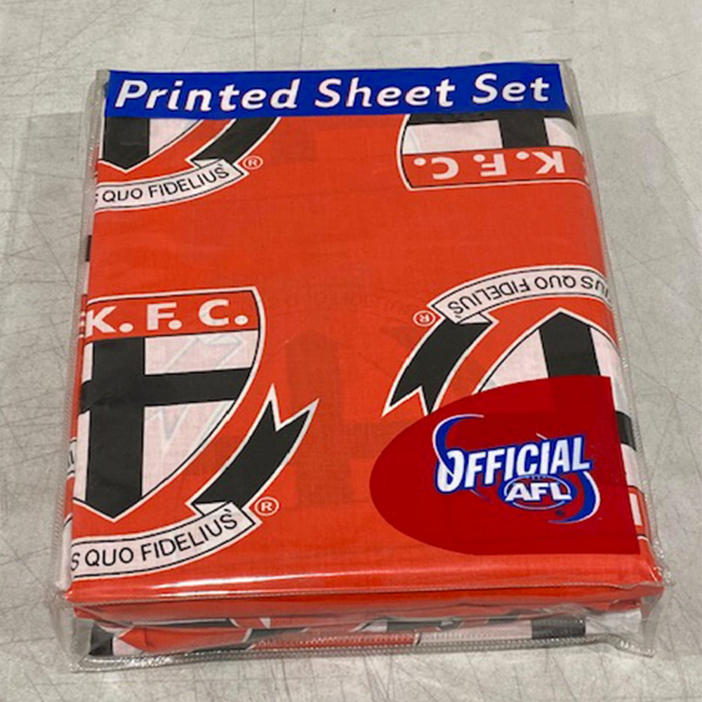 St Kilda Saints Printed Sheet Set Single