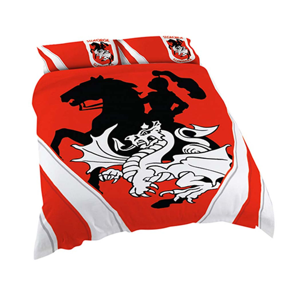 St George Dragons Double Quilt Cover Set