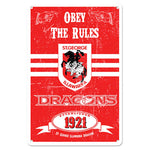 St George Dragons Retro Metal Sign