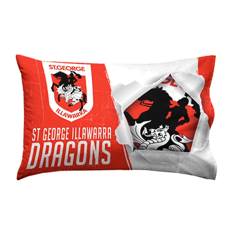 St George Dragons Single Pillow Case
