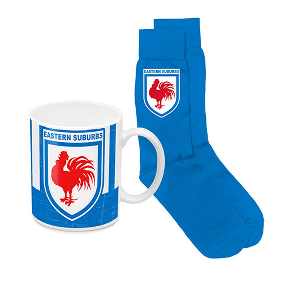 Sydney Roosters Heritage Mug and Socks Pack