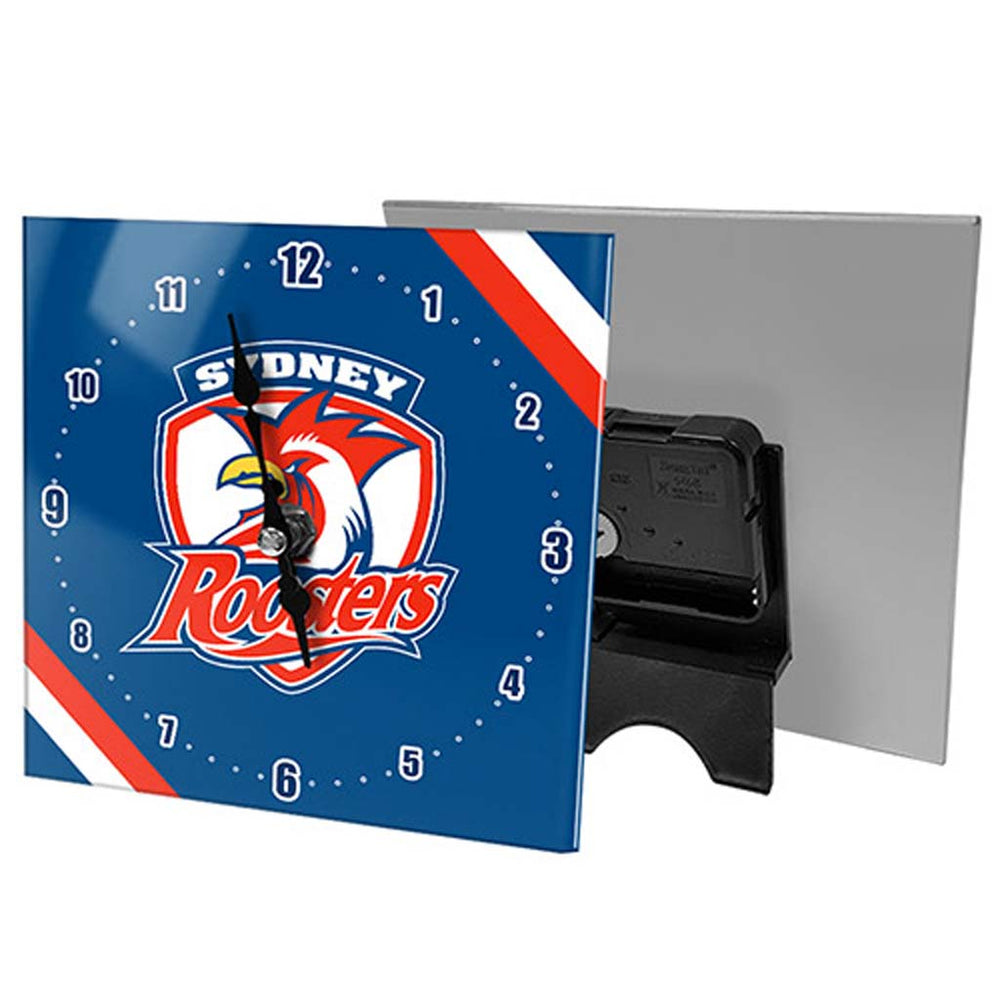 Sydney Roosters Mini Glass Clock