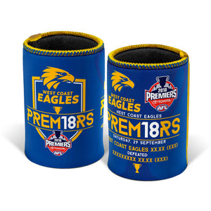 West Coast Eagles  2018 Premiers Can Cooler