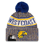 West Coast Eagles New Era Authentic Team Beanie