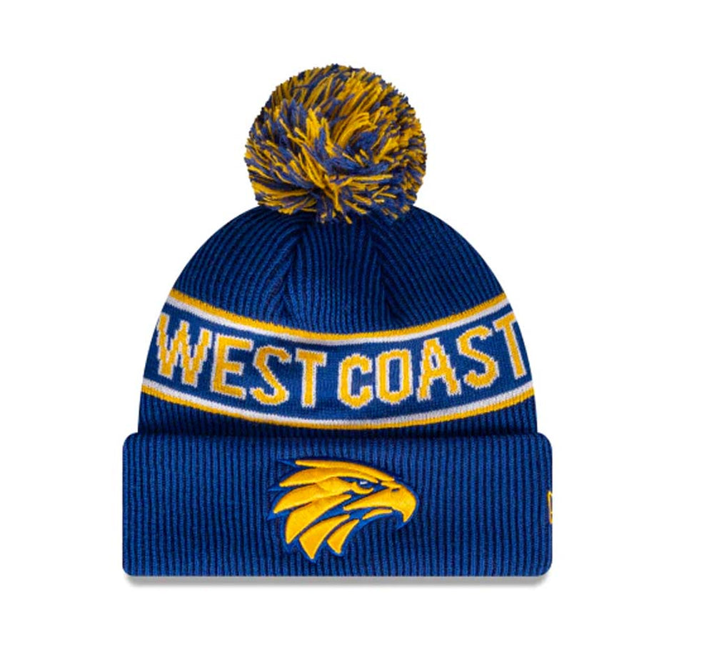 West Coast Eagles Official Team Colours Beanie