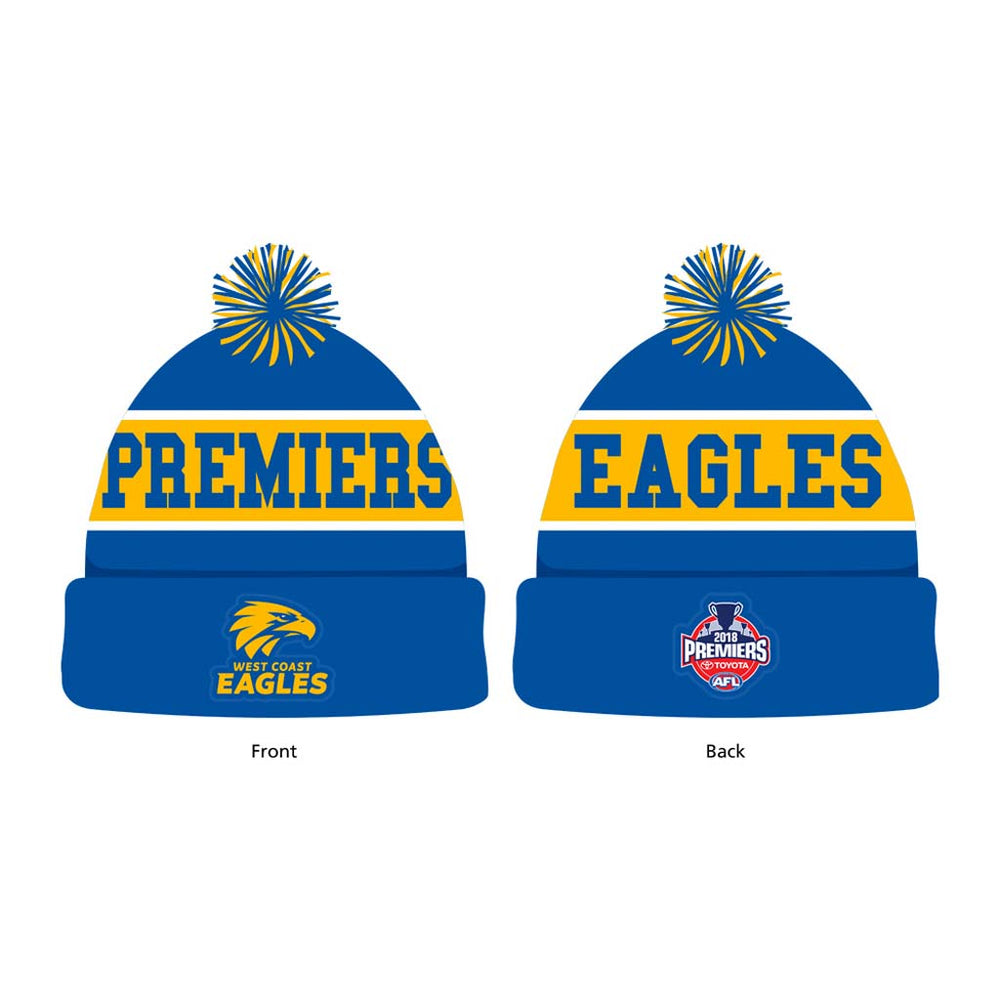 West Coast Eagles 2018 Premiers Beanie