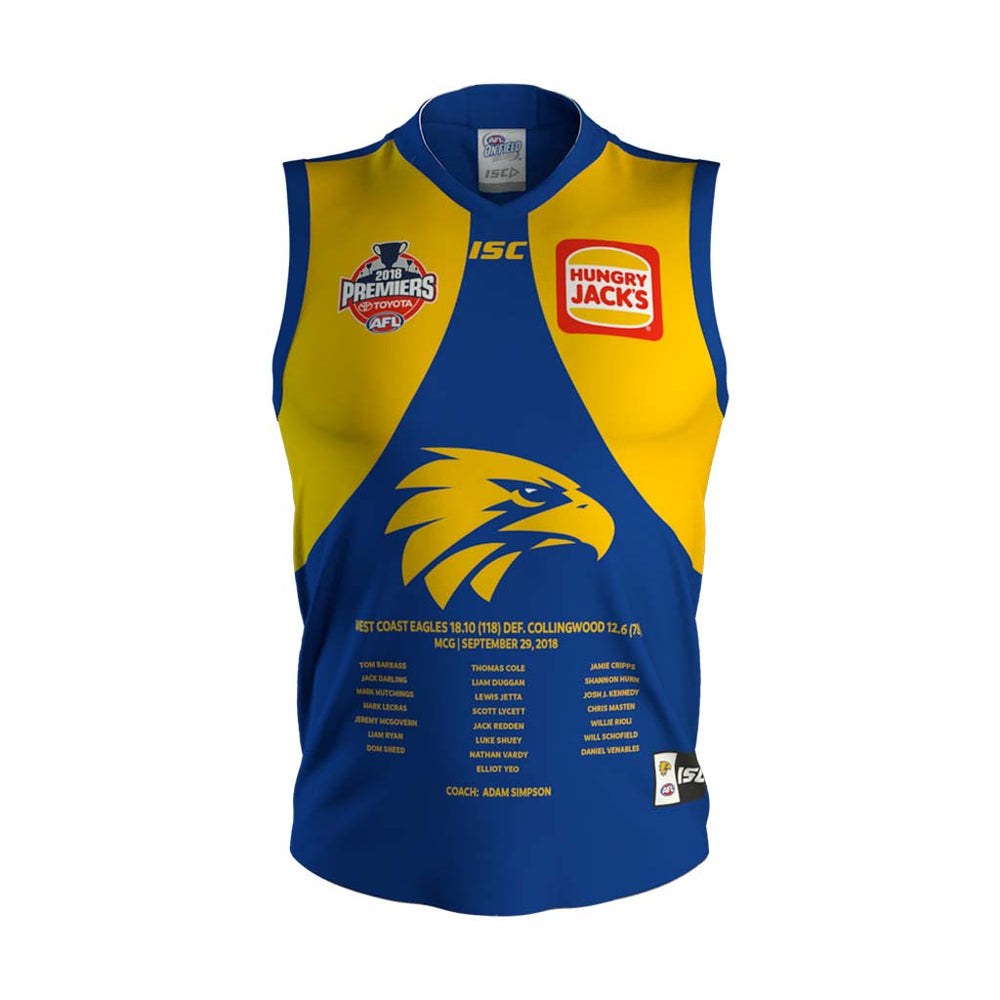West Coast Eagles 2018 Premiers Guernsey
