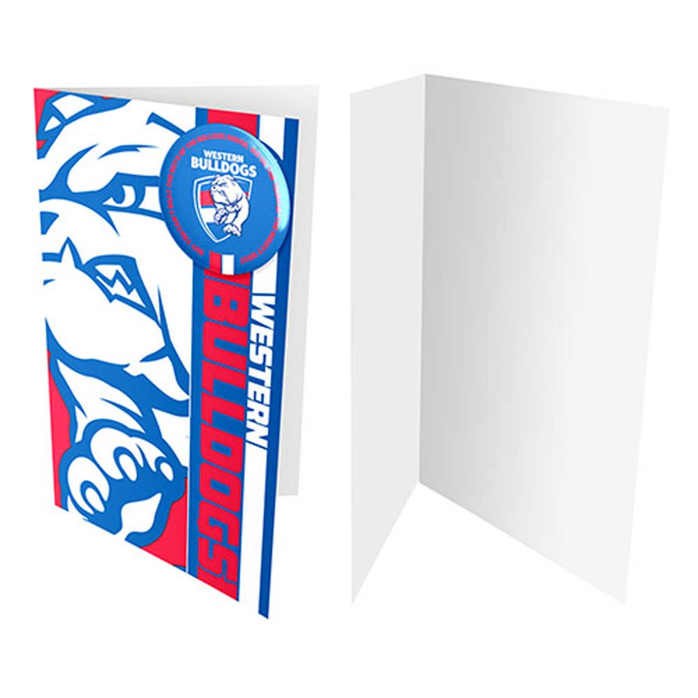 Western Bulldogs Badge Card