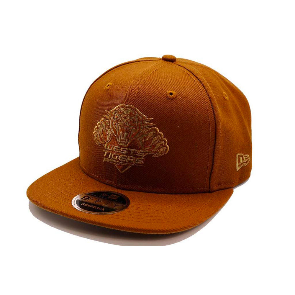 Wests Tigers New Era 9Fifty Original Fit Snapback - Peanut