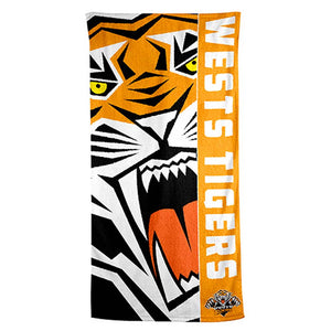 Load image into Gallery viewer, Wests Tigers Beach Towel