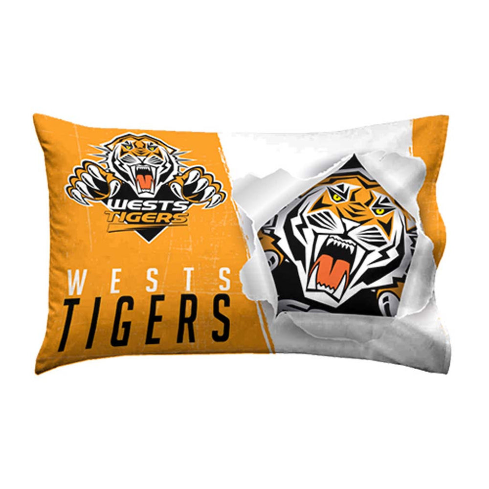 Wests Tigers Single Pillow Case