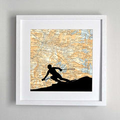 Mountain themed artwork & gifts for skiers