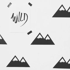 Mountain themed wall stickers