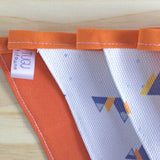 Handmade mega mountain design bunting