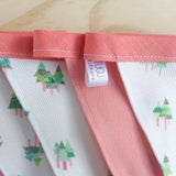 Handmade tall trees design bunting