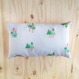 Handmade tall trees design cushion cover
