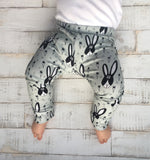 Rabbit print baby leggings