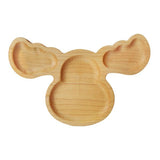 Handmade moose design wooden snack plate