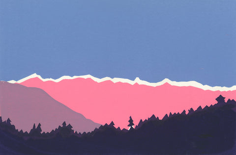 """Mountain & trees"" limited edition silkscreen print"