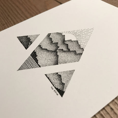Triangle mountain print (A5)