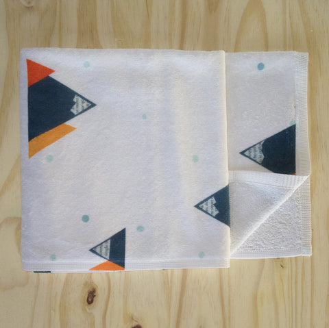 Mountain design towel