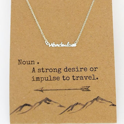 'Wanderlust' pendant necklace