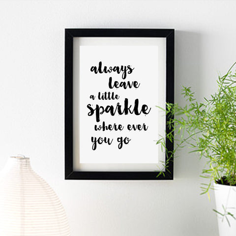 """Always leave a little sparkle where ever you go"" print (A4/A3)"