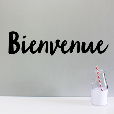'Bienvenue' wall sticker