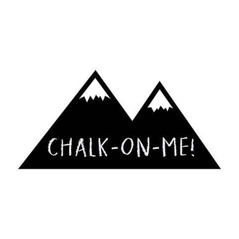 Chalkboard mountain design wall sticker