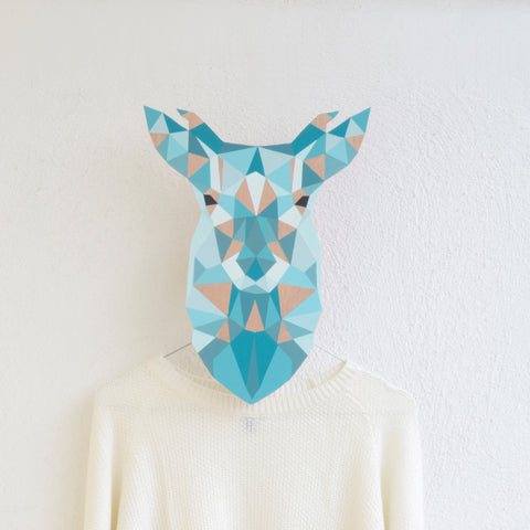Wooden wall hanger - deer design
