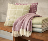 Sage herringbone design throw