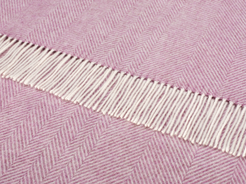 Lilac herringbone design throw