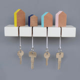 Handmade wooden mini house key holder