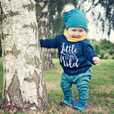 """Little and wild"" long-sleeved tee"