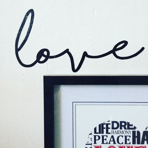 'Love' wall sticker