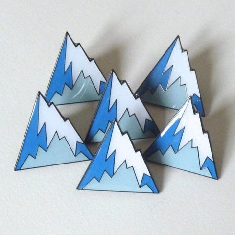 Mountain design enamel pin