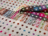 Rainbow design grey multi spot throw