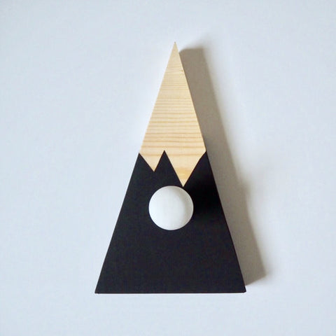 Hand painted wooden mountain hook/peg