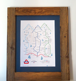 'Frozen Underground Three Valleys' print (A3)