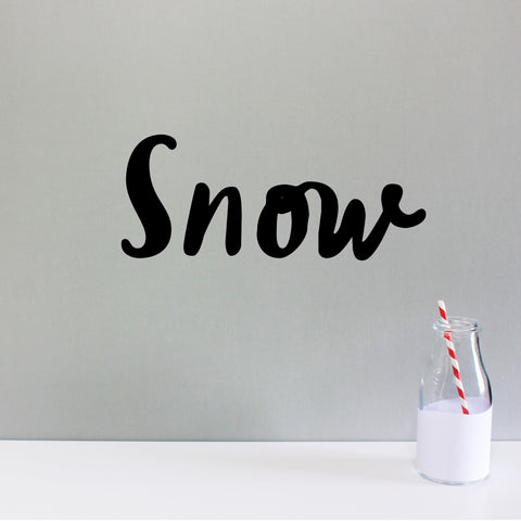 'Snow' wall sticker