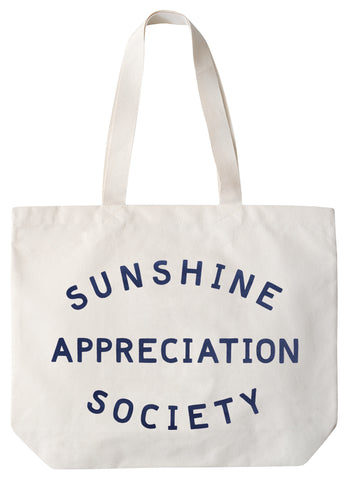 """Sunshine appreciation society"" large canvas tote bag"