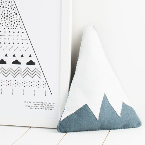 Handmade mountain cushion