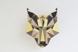 Wooden wall hanger - wolf design