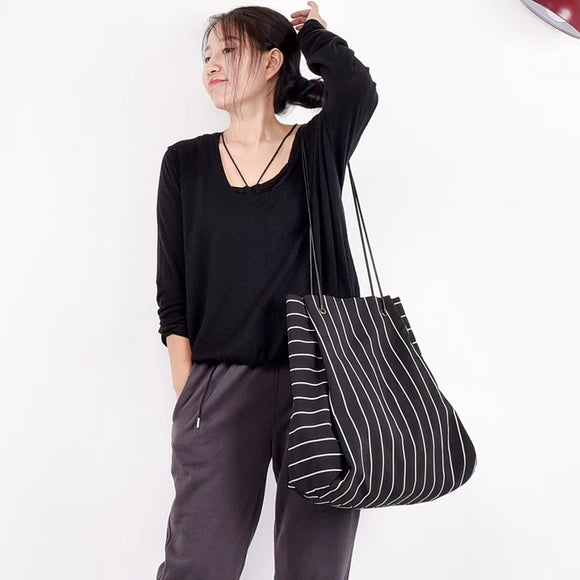 stripe women bags