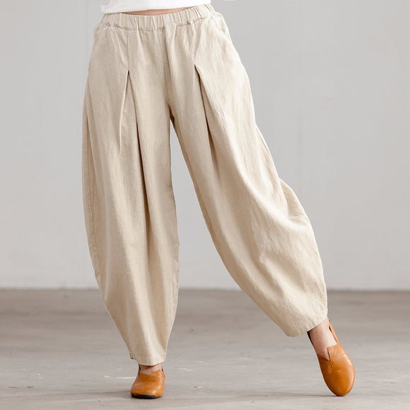 linen Harem women pants